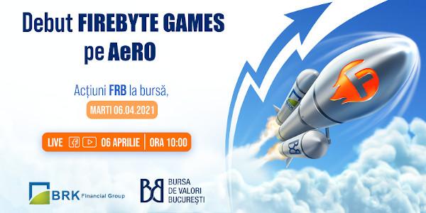 Firebyte Games este primul dezvoltator de jocuri pentru dispozitive mobile care se listează la Bursa de Valori București