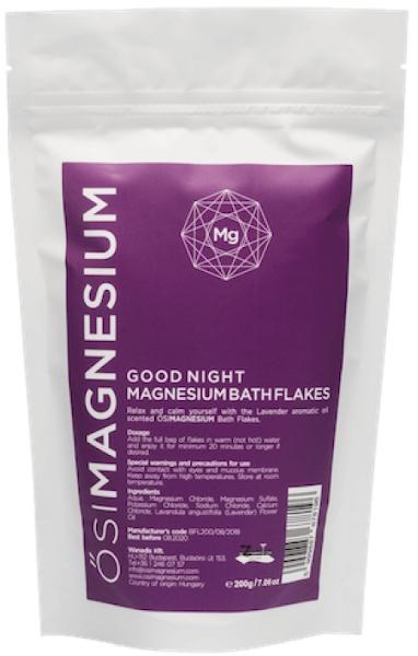 Fulgi de baie Good Night cu magneziu și lavandă, OsiMagnesium