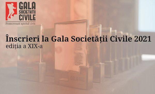 Organizațiile parte din sectorul asociativ din România pot înscrie proiecte la Gala Societății Civile 2021 până pe 20 mai