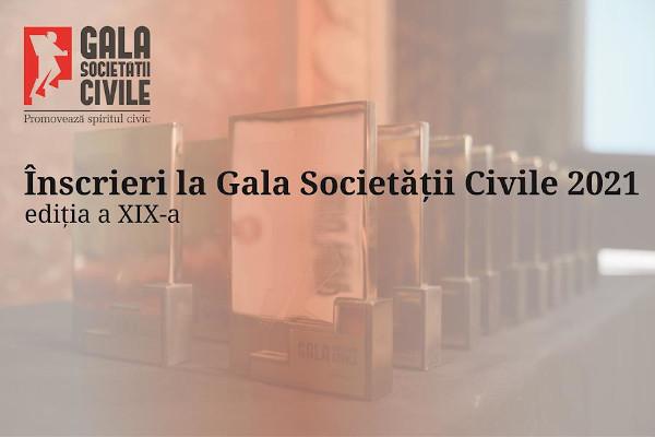 Inscrieri la Gala Societății Civile 2021