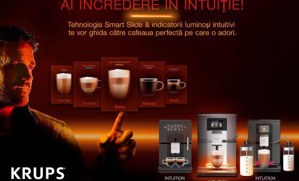Ai încredere în intuiție! Alege Intuition Preference+, cel mai intuitiv espressor de la Krups