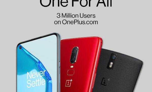 OnePlus atinge pragul de 3 milioane de utilizatori înregistrați pe oneplus.com în Europa