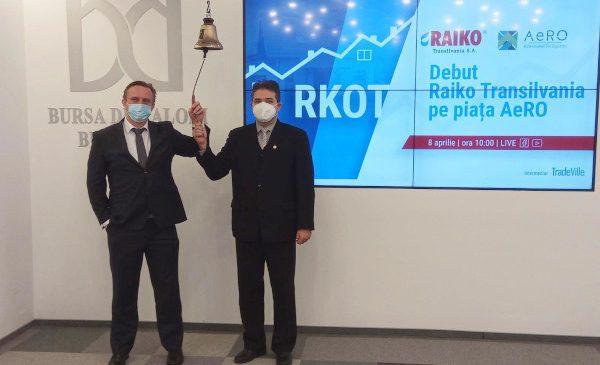 Acțiunile producătorului de sisteme pluviale Raiko Transilvania au debutat la Bursa de Valori București, pe AeRO