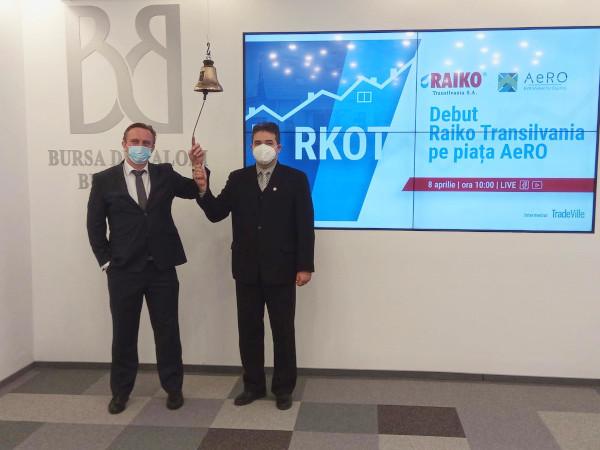 Raiko Transilvania s-a listat la Bursa de Valori Bucuresti