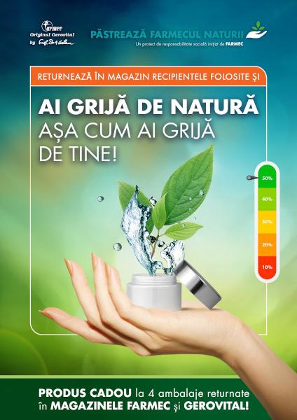 reciclare ambalaje farmec Ai grijă de natură așa cum ai grijă de tine