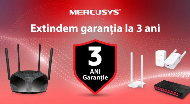 Mercusys anunță extinderea perioadei de garanție pentru toate  produsele companiei