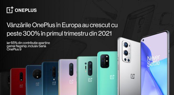 OnePlus raportează o creștere a vânzărilor de peste 300% în primul trimestru din 2021, susținută de performanțele gamei flagship