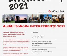 Preselecții pentru bursele SoNoRo Interferențe 2021. În premieră, SoNoRo acordă burse elevilor și studenților la canto