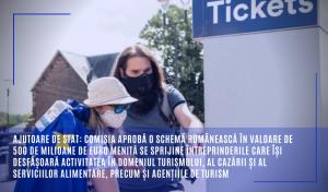 Ajutoare de stat: Comisia aprobă o schemă românească în valoare de 500 de milioane de euro menită se sprijine întreprinderile care își desfășoară activitatea în domeniul turismului, al cazării și al serviciilor alimentare, precum și agențiile de turism