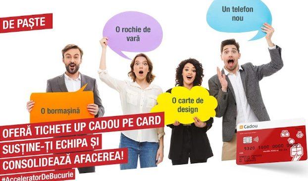 Crește interesul companiilor pentru soluții digitalizate de motivare a angajaților: În martie 2021, volumul tichetelor oferite prin cardul Up Cadou a fost de 5 ori mai mare decât luna similară a anului trecut
