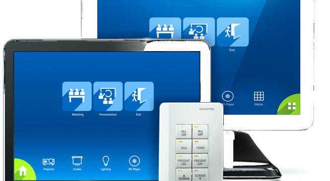 ATEN Control System asigură controlul integrat personalizat al tuturor dispozitivelor specifice mediului de afaceri
