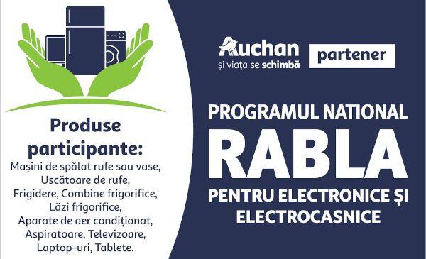 Auchan, participant în programul național Rabla pentru electronice și electrocasnice