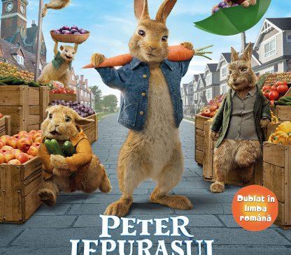 """""""Peter, iepuraşul fugit de-acasă"""" îi așteaptă pe copii la cinema de la 1 Iunie"""