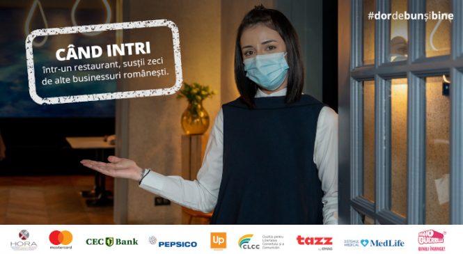 """Specialitatea casei: """"Dor de bun și bine"""", o campanie pentru susținerea industriei HoReCa, inițiată de HORA, prezentată de Mastercard și semnată de Golin"""
