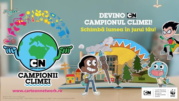Cartoon Network lansează o nouă campanie pe teritoriul întregii regiuni EMEA, care îi încurajează pe copii să întreprindă acțiuni pozitive pentru a aborda schimbările climatice
