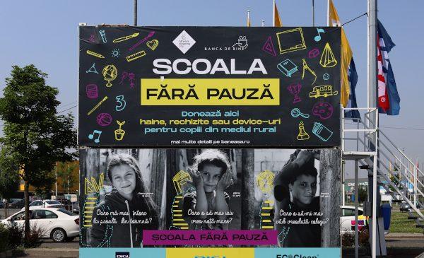 """Băneasa Shopping City și asociația Banca de bine lansează campania """"Școala fără pauză"""", dedicată prevenirii abandonului școlar"""