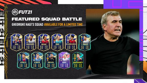 EA SPORTS și Gheorghe Hagi introduc primul Featured Squad creat de un român în FIFA 21 Ultimate Team