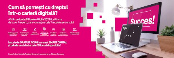 Fundația Telekom Romania și Telekom Romania organizează un curs gratuit pentru tinerii care își doresc o carieră în mediul digital