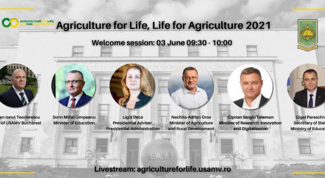 """Pol de excelență în cercetarea universitară, conferința internațională """"Agriculture for Life, Life for Agriculture"""" își deschide porțile pe 3 iunie 2021 cu peste 900 de lucrări științifice înscrise, din 42 de ţări"""