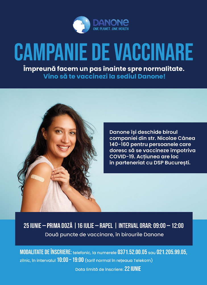 Actiune vaccinare Danone