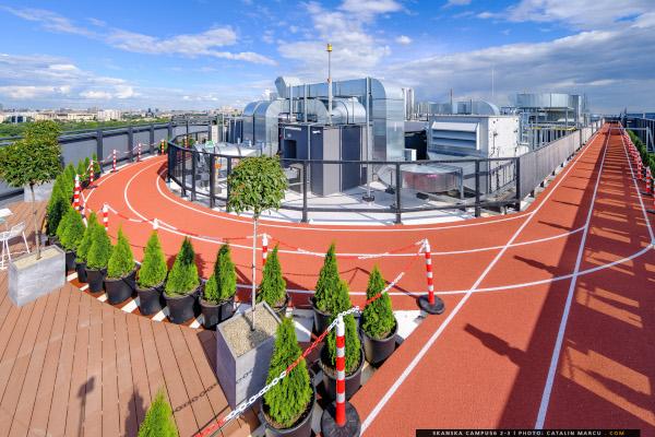 Skanska pistă de alergare rooftop Campus6
