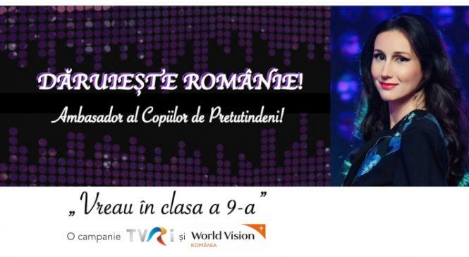 Dăruieşte Românie! TVR susţine educaţia copiilor din comunităţile defavorizate