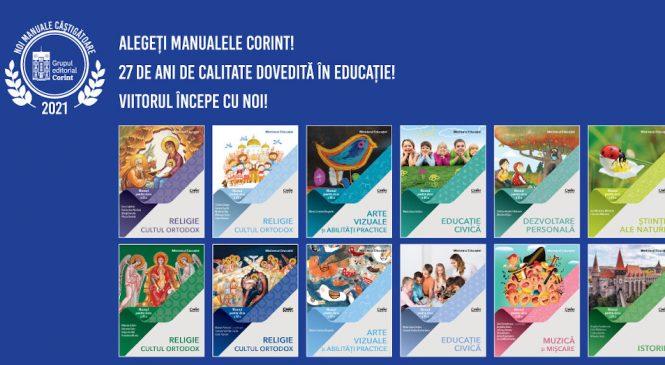 12 manuale Corint câștigă licitația Ministerului Educației în 2021