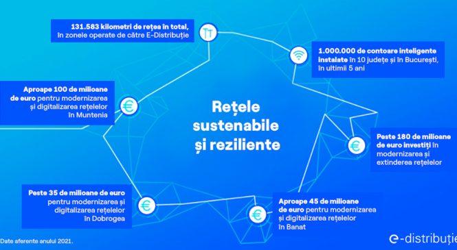 E-Distribuție investește peste 180 de milioane de euro în 2021, în modernizarea și digitalizarea rețelelor electrice