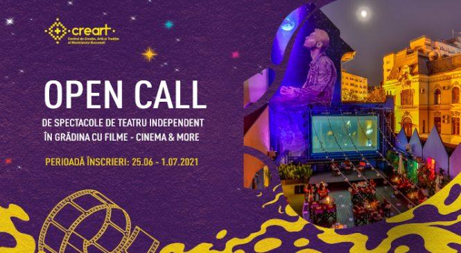 Grădina cu Filme – Cinema & More a lansat un OPEN CALL pentru spectacole de teatru independent
