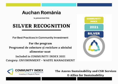 Auchan_ Silver_ Programul de reciclare al uleiului