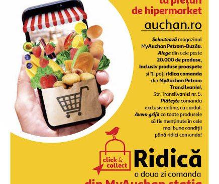 Auchan introduce serviciul gratuit Click&Collect în magazinele MyAuchan din Stațiile Petrom