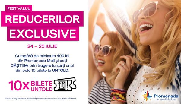Festivalul reducerilor exclusive la Promenada Mall, în weekend-ul 24-25 iulie