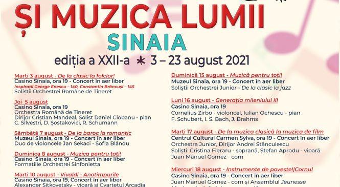 """Festivalul Internațional """"Enescu și muzica lumii"""", ediţia a 22-a, Sinaia, 3-23 august"""