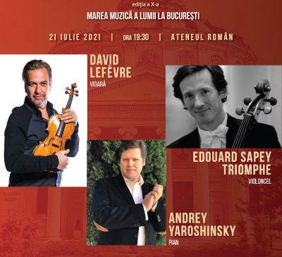 Recital David Lefèvre, concert maestrul Filarmonicii Monte Carlo la București în Festivalul Vara Magică