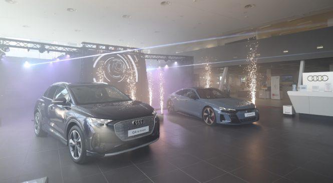 Audi lansează în România două noi modele 100% electrice: Audi e-tron GT și Audi Q4 e-tron, primul SUV electric compact din gamă