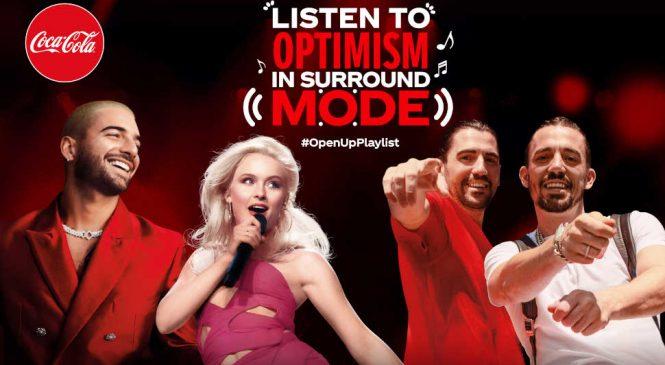 """Coca-Cola lansează împreună cu Maluma, Zara Larsson, Dimitri Vegas & Like Mike o nouă campanie – """"Open Up Playlist"""" – construită în jurul muzicii și al optimismului"""