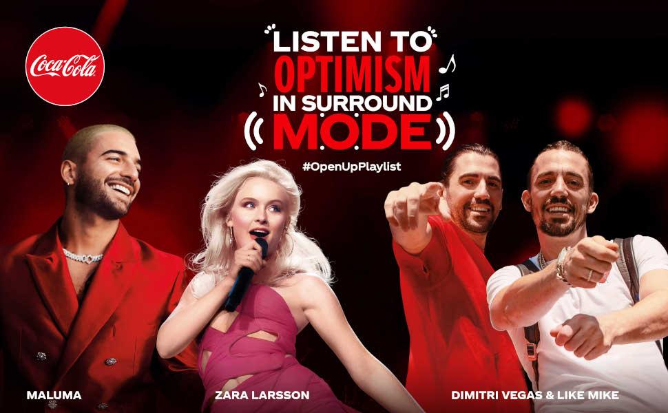 Coca-Cola Open Up Playlist Maluma Zara Larsson Dimitri Vegas & Like Mike