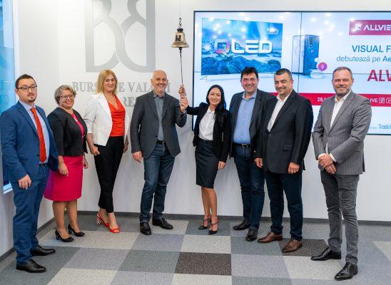 Allview a debutat pe piața AeRO a Bursei de Valori București