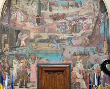 One United Properties sprijină restaurarea frescei din Aula Academiei de Studii Economice