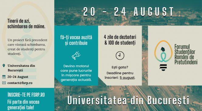 """Înscrie-te ca participant în """"Forumul Studenților Români de Pretutindeni"""""""