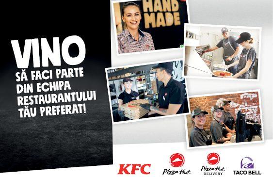 Campanie de recrutare inedită în București. KFC, Pizza Hut și Taco Bell organizează un târg de joburi față în față
