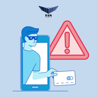 spoofing FAN Courier frauda sms