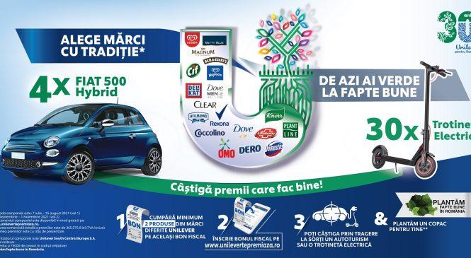 De azi ai verde la fapte bune alături de mărcile cu tradiție Unilever