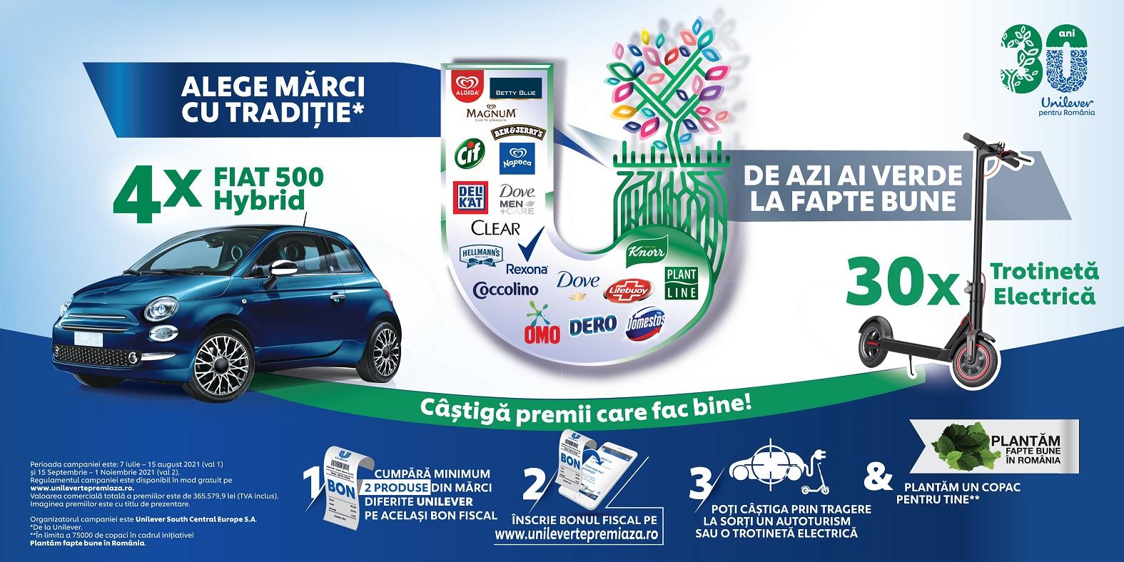 De azi ai verde la fapte bune Unilever concurs