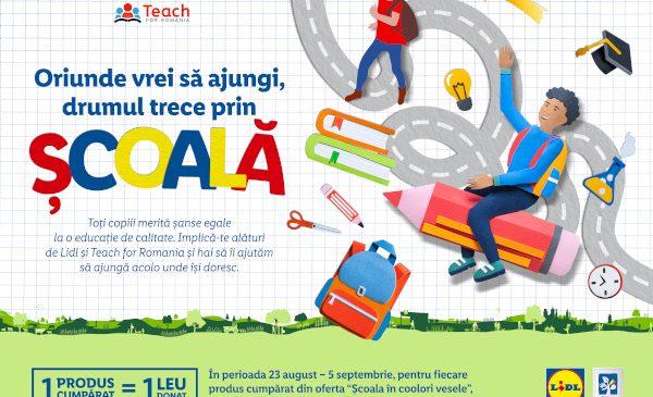 Cu ajutorul clienților săi, Lidl România continuă să investească în educație, prin programului Teach for Romania, pentru al cincilea an consecutiv