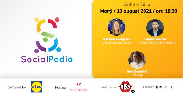 SocialPedia 29: Despre Social Media Strategy în 2021 cu Adriana Georgescu, Ciprian Susanu și Gelu Duminică