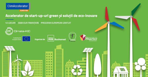 300.000 de euro finanțare, mentorat, consultanță de specialitate și pregătire pentru atragerea de investiții în cadrul Black Sea ClimAccelerator, programul de accelerare pentru startup-urile green și soluții de eco-inovare
