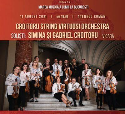 Festivalul Vara Magică continuă în vibrații de vioară cu Croitoru String Virtuosi Orchestra