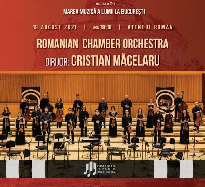 """Romanian Chamber Orchestra va susține ultimul concert al ediției a X-a a Festivalului Internaţional """"Vară Magică"""" 2021"""