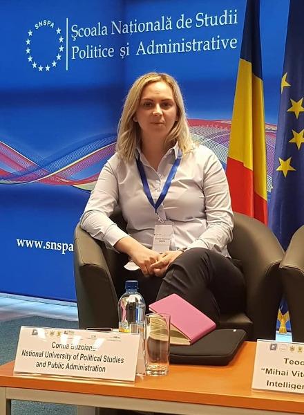 Conf. Univ. Dr. Corina Buzoianu, Facultatea de Comunicare și Relații Publice, SNSPA